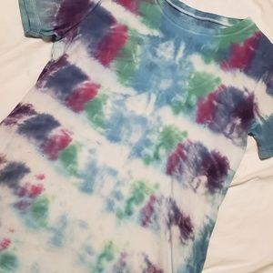 Eddie Bauer Tye Dyed Tshirt Boho Hippie Large